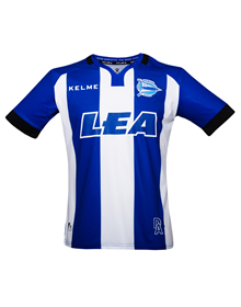 HOME ALAVÉS JERSEY - BLUE & WHITE 17/18_image