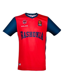 EUROLEAGUE SHOOTING JERSEY - MAROON & BLUE_image