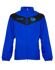ALAVÉS RAIN JACKET - ROYAL BLUE & BLACK_image