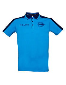 COACH POLO SHIRT - TURQUOISE & NAVY_image