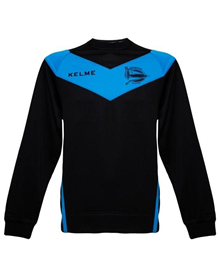 ALAVÉS COACH SWEATER - BLACK & TURQUOISE_image