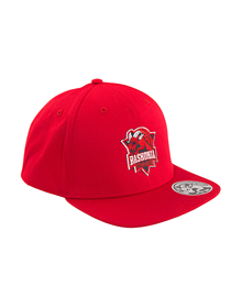 Baskonia red snapback hat_image