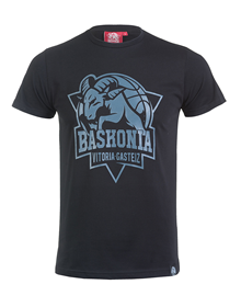 Black t-shirt baskonia's shield_image