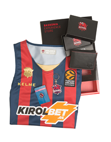 Pack premium Baskonia: Home jersey + Wallet + Keychain + Pin_image