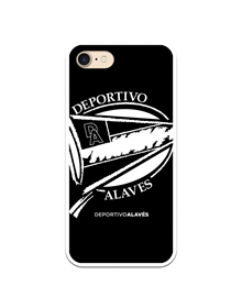 Flexible case black and white crest Deportivo Alavés_image