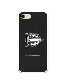 Flexible case black and white small crest Deportivo Alavés_image