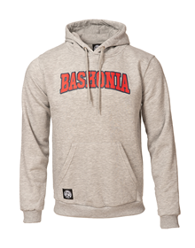 Grey MO hoodie with red Baskonia letters_image