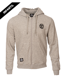 Baskonia kids zipped hoodie MO grey _image