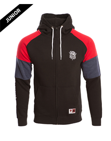 HOODIE MO BLACK 1 JR RED&BLUE SLEEVES BASKONIA_image