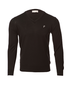 Goat black v-neck knitted sweater_image