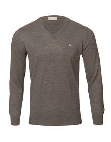 Baskonia grey v-neck knitted sweater_image