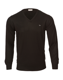 Baskonia black v-neck knitted sweater_image