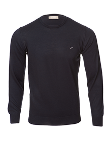Deportivo Alavés navy round neck knitted sweater_image