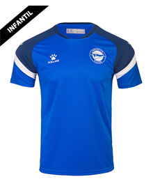 T-shirt child official training blue, Deportivo Alavés 20/21_image