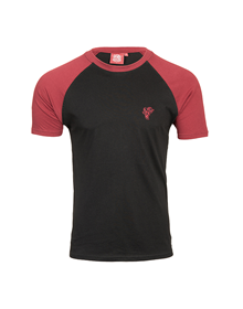 Deportivo Alavés grey with maroon sleeves t-shirt_image