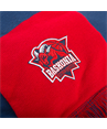Classic embroidered crest scarf