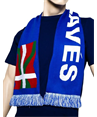 Official Deportivo Alavés blue double-sided Beti Alavés scarf