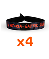 SOLIDARY WRISTBAND F4 VITORIA-GASTEIZ 2019 (4 PACK)
