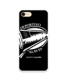 Flexible case black and white crest Deportivo Alavés