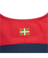 95% Polyester 5% Elastane. Breathable fabric to reduce sweating. Textile crest and patch embroidered onto garment. Woven Ikurriña on back.