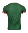 95% Polyester 5% Elastane, breathable fabric Regular fit. Contrast neck and armholes. Contrast side mesh to keep cool.Sublimated stripes.Textile crest and patch embroidered onto garment. Woven Ikurriña on back.