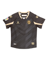 Jersey, shorts and socks 95% Polyester, 5% Elastane. Breathable fabric to reduce sweating. Woven crest embroidered onto garment and thermoadhesive details. Woven ikurrina flag on back.