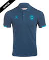 Polo shirt 65% Cotton, 35% Polyester, breathable fabric. Short ranglan sleeves with fabric insers in contrast colour. Textile crest embroidered onto garment, and thermoadhesive details.