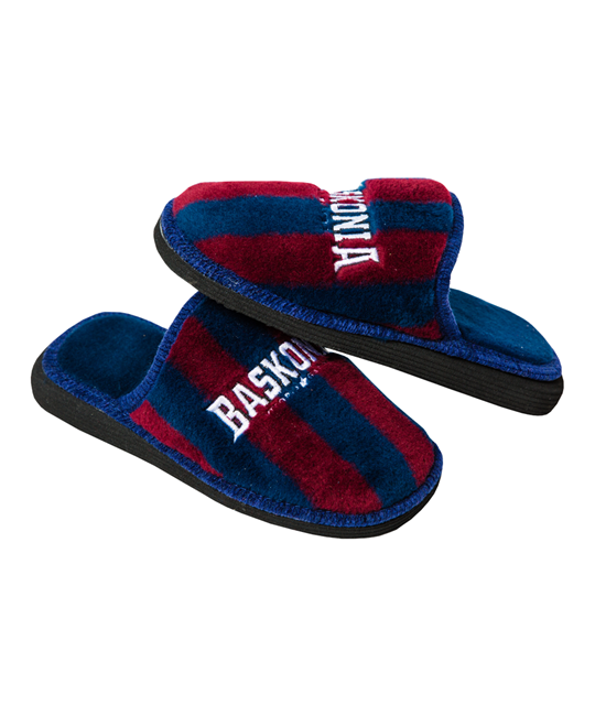 EMBROIDERED CREST SLIPPERS