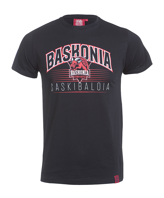 baskonia's lyrics and shield black t-shirt_image
