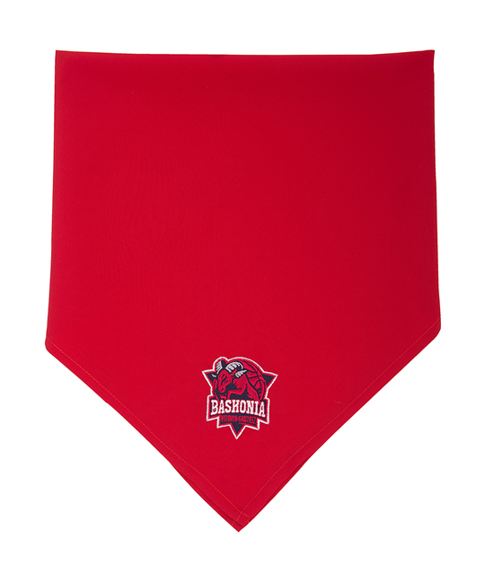 Traditional red bandana, Baskonia crest