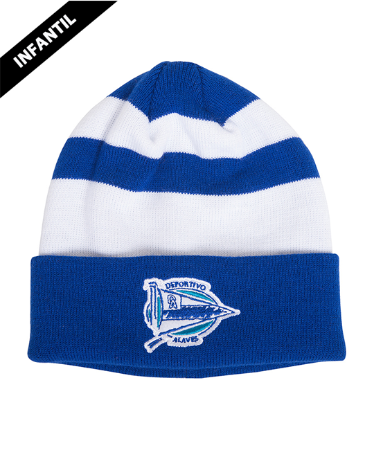 Albiazul stripes child Hat, Deportivo Alavés