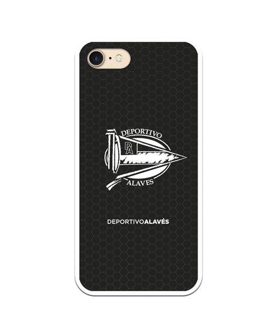 Flexible case black and white small crest Deportivo Alavés