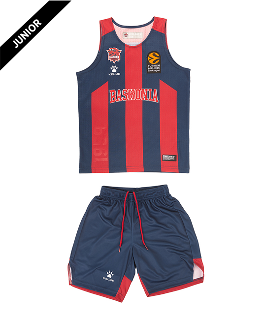 Junior Home Minikit blue and red, 20/21 Baskonia